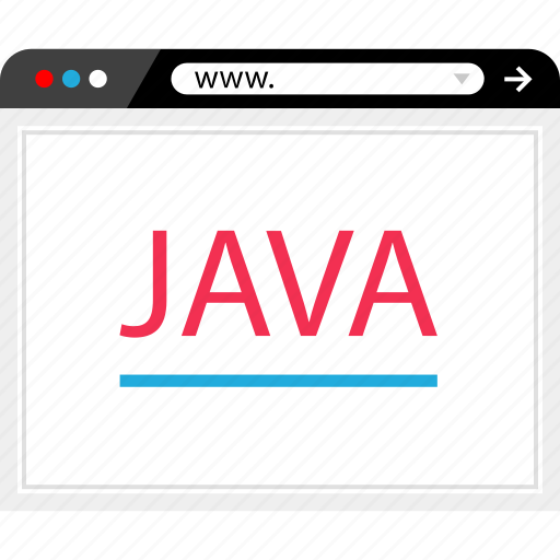 browser, code, java, program icon