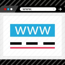 browser, internet, mockup, online, web, website, wireframe icon