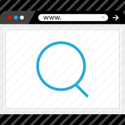 find, internet, search, web icon