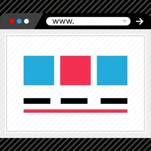 mockup, online, website, wireframe icon