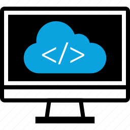 cloud, code, development, program, programming, web icon
