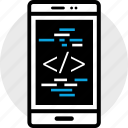 code, development, phone, program, programming, web icon