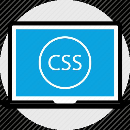 css, development, laptop, program, programming, web icon