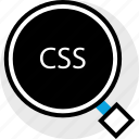 css, development, find, program, programming, web icon