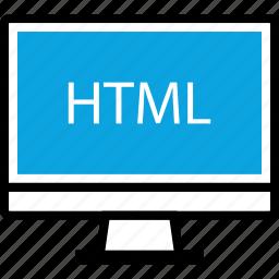 development, html, mac, pc, program, programming, web icon