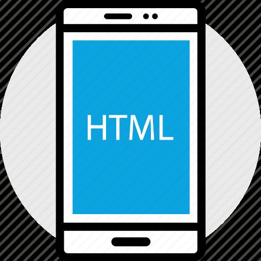development, html, phone, program, programming, web icon