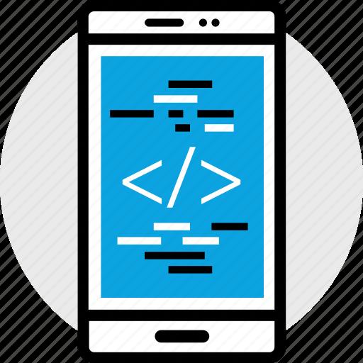 code, development, phone, program, programming, web icon