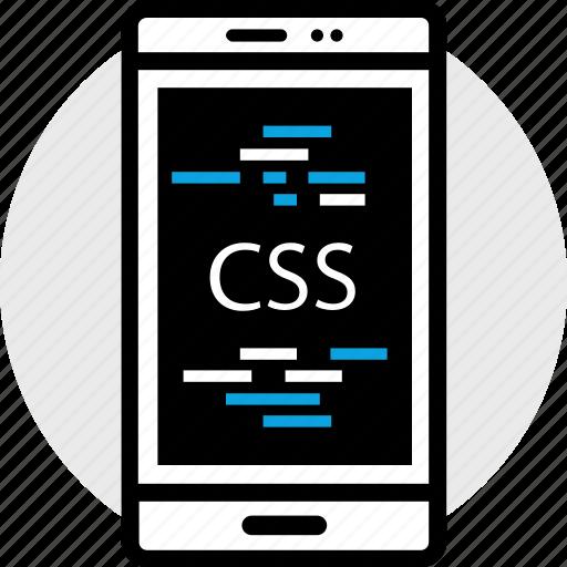 css, development, phone, program, programming, web icon