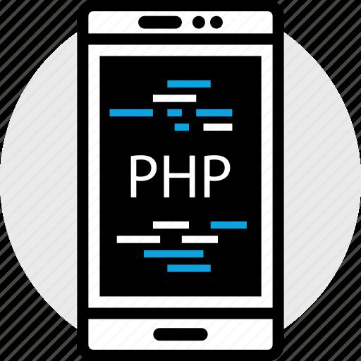 development, phone, php, program, programming, web icon