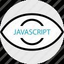development, javascript, program, programming, search, web icon