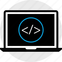 coding, development, laptop, program, programming, web icon