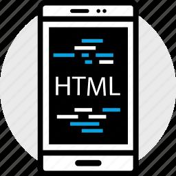 development, phone, program, programming, web icon