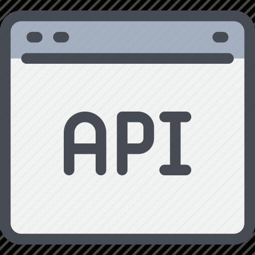 api, app, browser, code, coding, develop, development icon