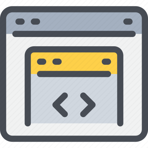 browser, code, coding, develop, development, programming icon