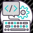code, coding, development, keyboard, programming icon