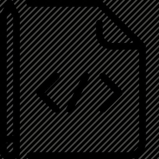 code, coding, development, file icon