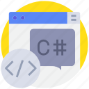 browser, code, coding, develop, programming icon
