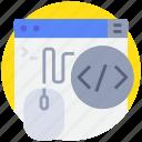 browser, coding, porgramming, programming, website icon