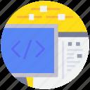 coding, control, option, programming icon