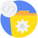 code, coding, document, management, process, programming icon