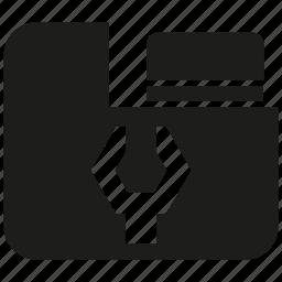 data, file, folder, setting, wrench icon