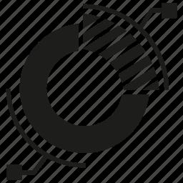 analytics, chart, data, graph, pie chart icon