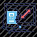 mobile app, computer, responsive design, development icon