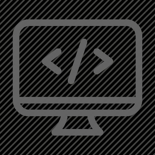 coding, programming, web icon