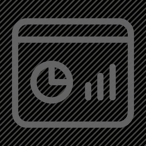 dashboard, graph, programming icon