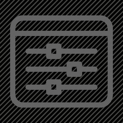 programming, slider, web icon