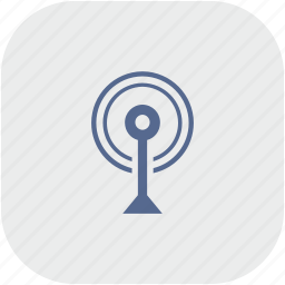 antenna, app, gray, radio, signal icon
