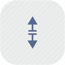 app, arrow, border, gray, separate, vertical icon