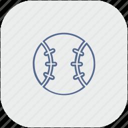 app, ball, baseball, game, gray, sport icon