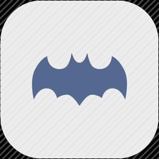 app, bat, batman, comics, gray, hero, sign icon