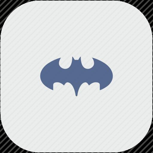 app, bat, batman, gray, hero icon