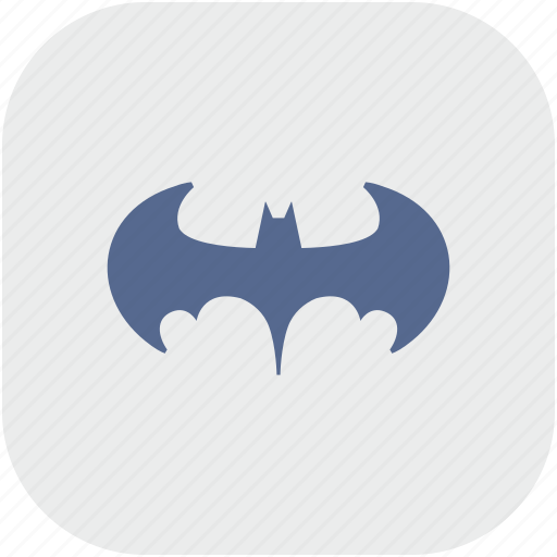 app, bat, batman, gray, legend icon