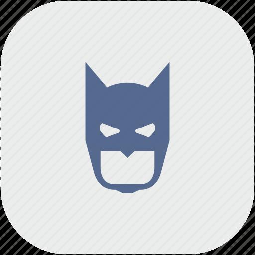 app, bat, batman, face, gray, mask icon