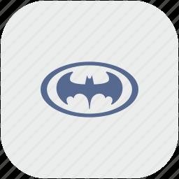 app, bat, batman, gray, hero, oval icon