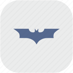 app, bat, batman, comics, gray icon