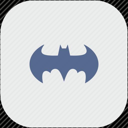 app, bat, batman, gray icon