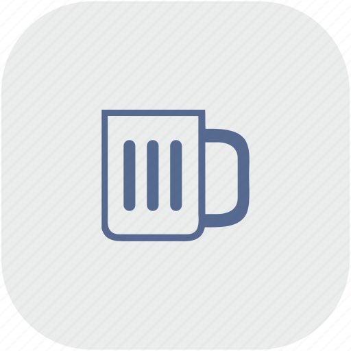 app, beer, cup, drink, gray icon