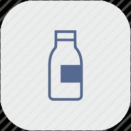 app, bottle, drink, gray, milk icon