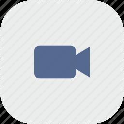 app, cam, camera, gray, video icon