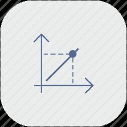 app, chart, economics, function, gray, math icon