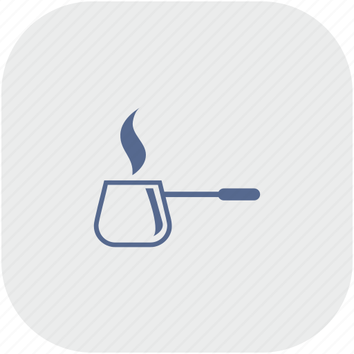 app, coffee, dishes, gray, hot, kitchen icon