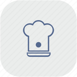 app, cook, gray, hat, kitchen icon