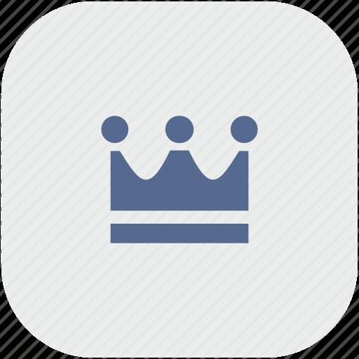 app, crown, gray, king, royal icon