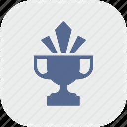 app, champion, cup, gray, shine, winner icon
