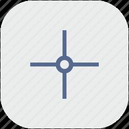 aim, app, cursor, gray, pointer, target icon