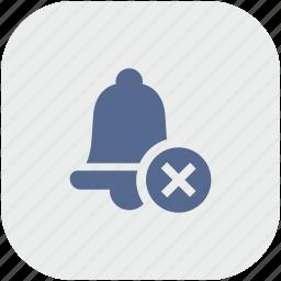 alarm, app, bell, delete, gray, ring, stop icon